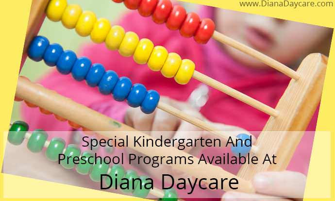 Special Kindergarten Programs Available At Diana Daycare